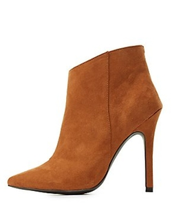 Charlotte Russe - Pointed Toe Ankle Booties