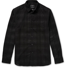 Rag & Bone  - Beach Overdyed Checked Cotton Flannel Shirt
