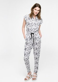Mango Outlet - Floral-Print Long Jumpsuit