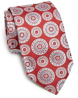 Ike Behar - Medallion Print Silk Tie