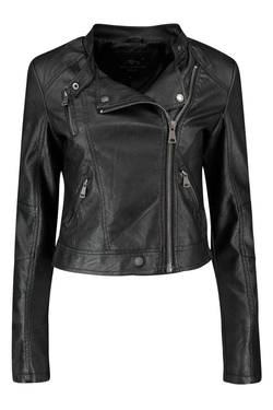 Boohoo - Mollie Leather Look Biker Jacket