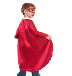 Everfan  - Red Polyester Satin Superhero Cape