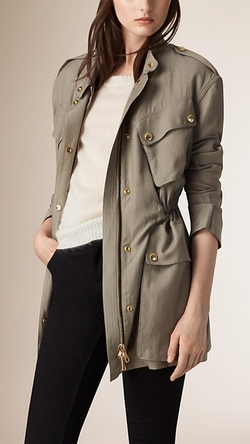 Burberry - Cotton Blend Field Jacket