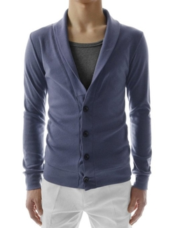 TheLees  - Slim Fit Urbane Design Button Cardigan