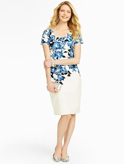 Talbots - Cascading Floral Sheath Top