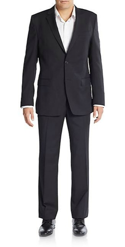 Versace Collection - Regular-Fit Tonal Pinstriped Wool Suit