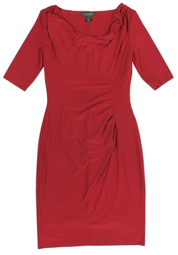 Lauren Ralph Lauren - Cowl-Neck Draped Dress