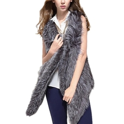 Fedi Apparel - Faux Fur Irregular Waistcoat