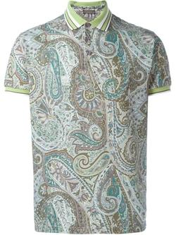 Etro - Paisley Print Polo Shirt