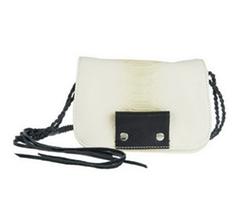 Kelsi Dagger - Leather Spencer Embossed Python Crossbody Bag