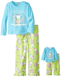 Dollie & Me - Kitten In A Sweater Pajama Set