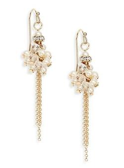Sequin  - Cluster Chain Tassel Earrings