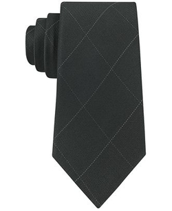 Calvin Klein - Simple Windowpane Slim Tie
