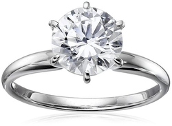 Amazon Collection - Gold Round-Cut Solitaire Ring