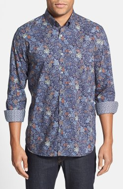 Ted Baker London  - Delish Extra Trim Fit Floral Print Sport Shirt