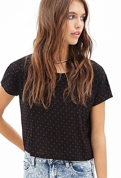 Forever21 - Boxy Dotted Tee