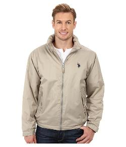 U.S. Polo Assn. - Solid Hooded Windbreaker Jacket