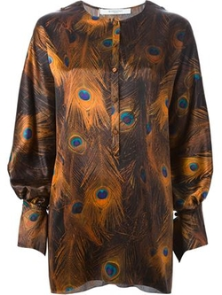 Givenchy   - Peacock Feather Print Blouse