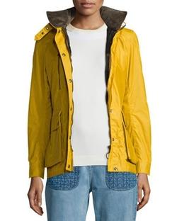 Belstaff - Waxed Long-Sleeve Hooded Jacket