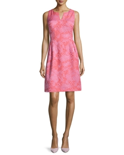 Kay Unger New York - Sleeveless Jacquard Cocktail Dress