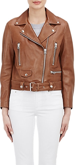 Acne Studios  - Leather Mock Moto Jacket