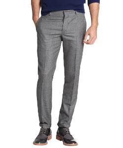 PRADA  - Grey Wool Flat Front Pants