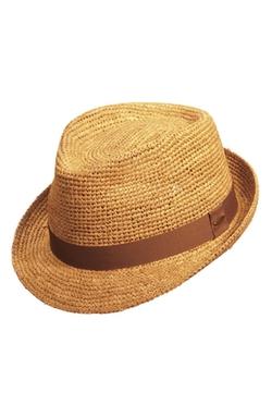 Scala  - Straw Trilby Hat