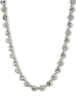 Givenchy  - Silvertone And Crystal Collar Necklace