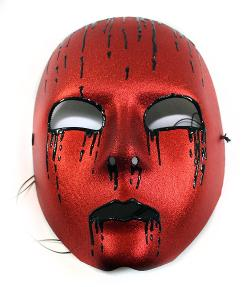 Success Creations USA - Drainage Red & Black Hand-Painted Masquerade Mask