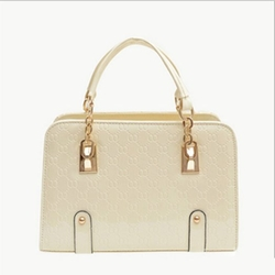 Redcolourful - Leather Padlock Tote Handbag