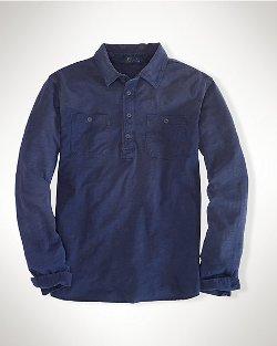 Polo Ralph Lauren - Indigo-Dyed Popover Workshirt