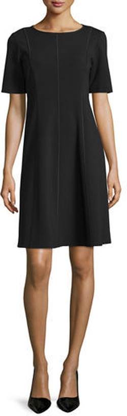 Lafayette 148 New York - Seamed Short-Sleeve Fit & Flare Dress