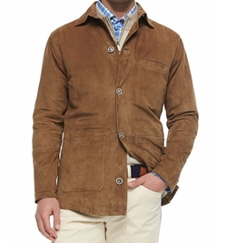 Peter Millar - Suede Button-Front Shirt Jacket