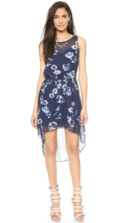 Haute Hippie  - Floral High Low Dress