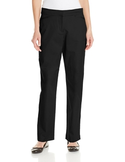 Sag Harbor  - Curvy-Fit Twill Straight-Leg Pant