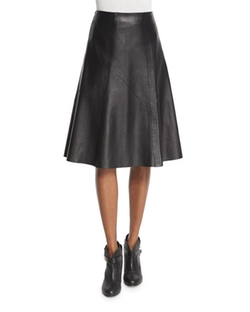Rag & Bone  - Kelly Leather A-Line Skirt