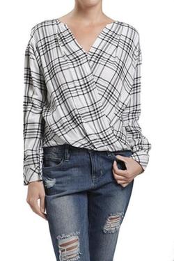 Blu Pepper - Plaid Wrap Shirt