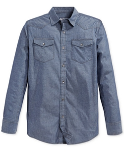 American Rag - Long-Sleeve Chambray Shirt