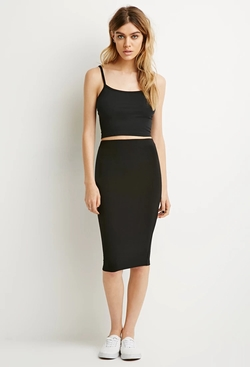 Forever 21 - Stretch Knit Pencil Skirt