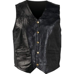 Giovanni Navarre - Mosaic Leather Vest