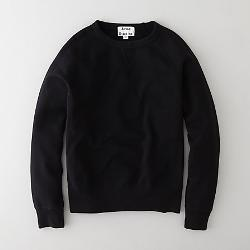 ACNE STUDIOS - College Black Sweatshirt