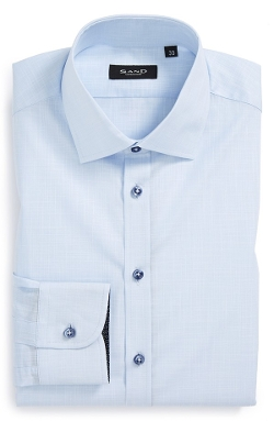 Sand - Trim Fit Solid Dress Shirt