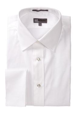 Ike Behar - 80s Cotton Pique Tux Dress Shirt