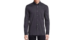 John Varvatos Star USA  - Button-Down Collar Solid Sport Shirt
