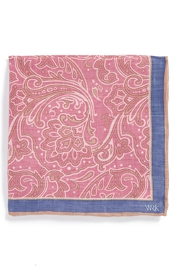 W.R.K - Floral Linen Pocket Square
