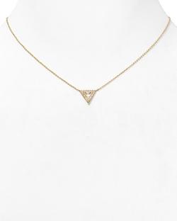 Nadri  - Pavé Triangle Pendant Necklace