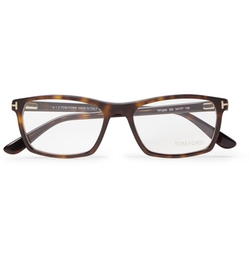 Tom Ford - Square-Frame Tortoiseshell Acetate Optical Glasses