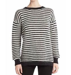 Rebecca Minkoff  - Worth Striped Flyaway-Back Sweater