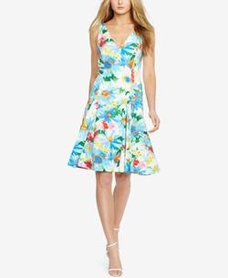Polo Ralph Lauren - Floral-Print Fit & Flare Dress