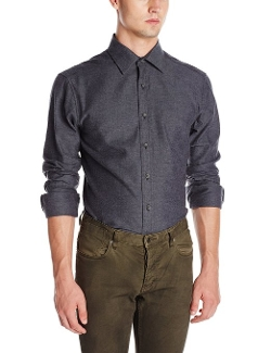 Vince Camuto - Long-Sleeve Solid Button-Front Shirt